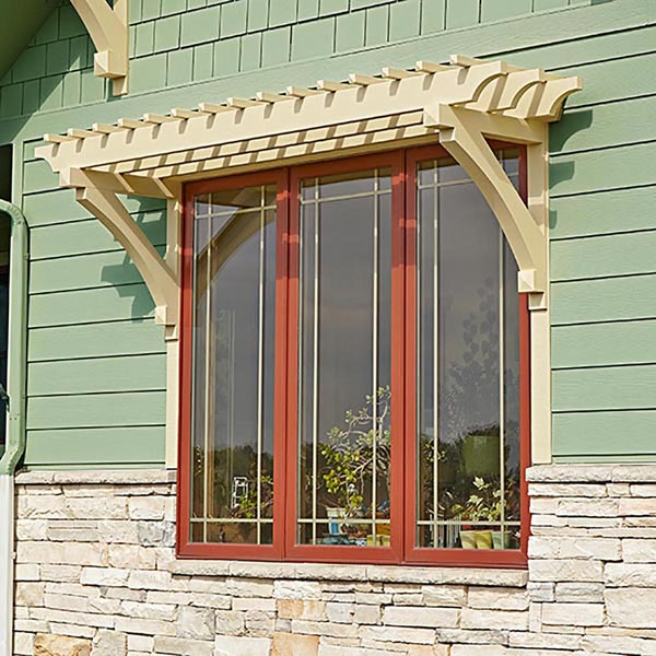 Window or Door Arbor Woodworking Plan, Outdoor, Backyard Structures