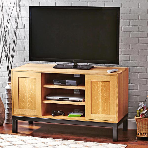 Straightforward and Spacious TV Stand