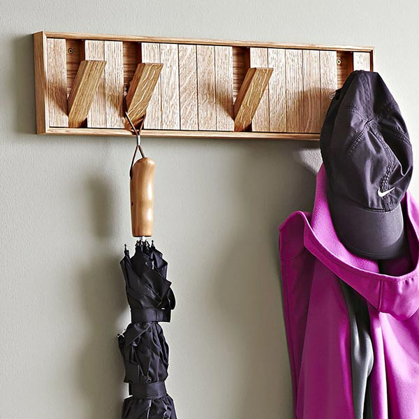 Hidden-Hook Coat Rack