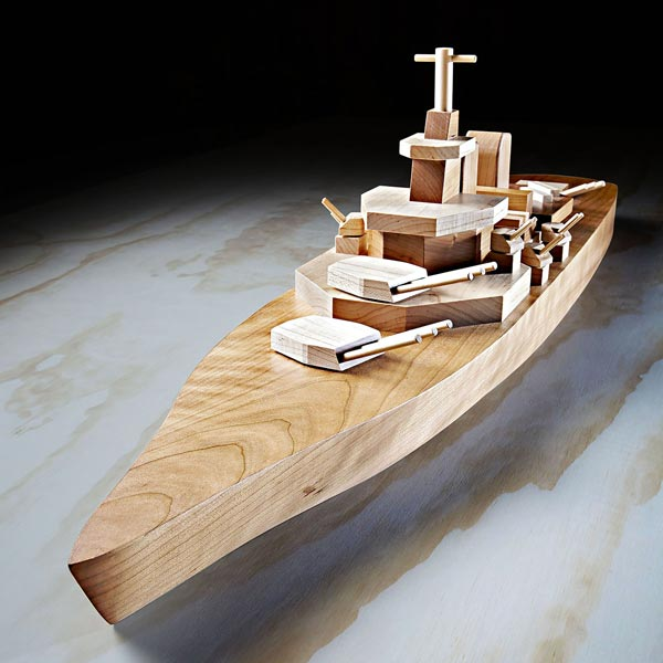 Mil spec Iowa class Battleship Woodworking Plan from WOOD