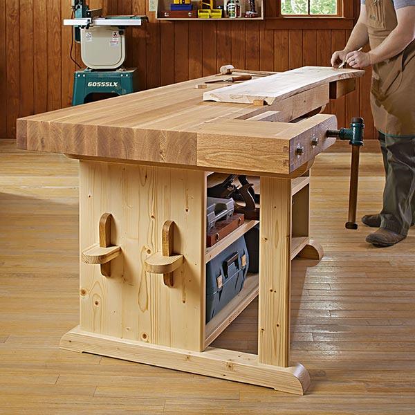 Make-a-statement Workbench Woodworking Plan, Workshop & Jigs Workbenches
