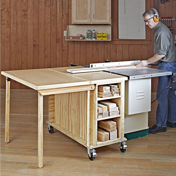 Tablesaw Outfeed Table Woodworking Plan, Workshop & Jigs Workbenches