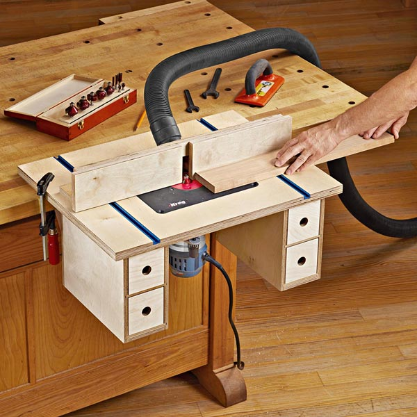 Bench-mounted Router Table Printed Plan