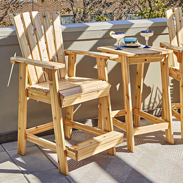 High-style Adirondack Pair - Outdoor Furniture Woodworking Plans