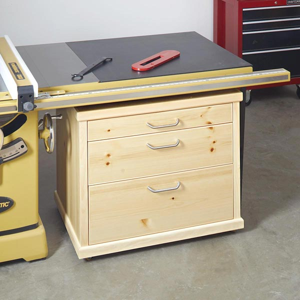 Under-wing Tablesaw Accessories Cabinet