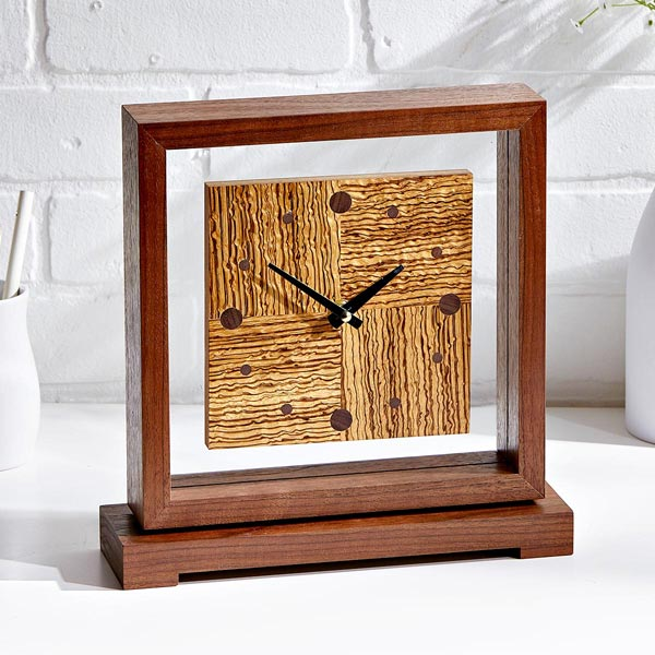 Time Suspended Floating-face Clock
