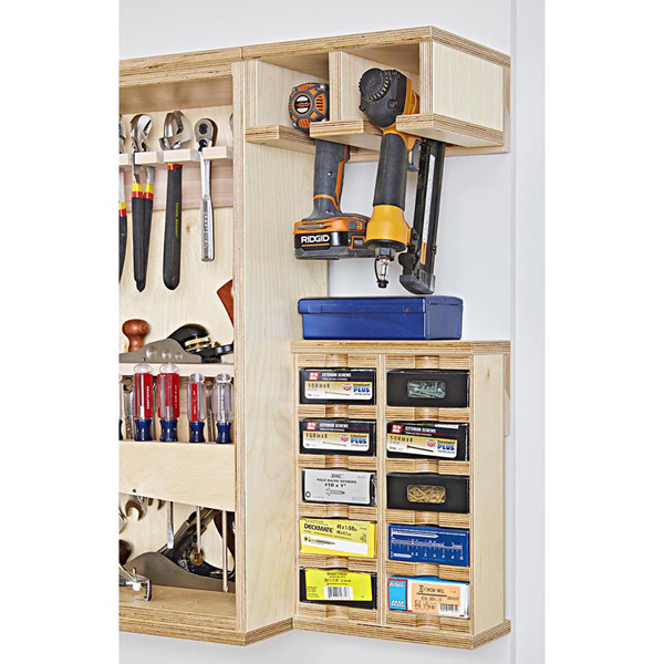 Drill Holder and Hardware Rack