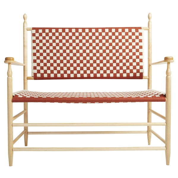 Woven Seat Shaker Bench