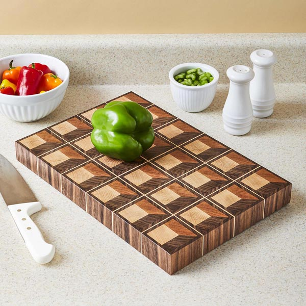 Optical Illusion Cutting Board