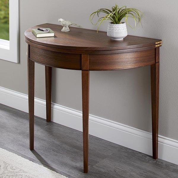 Versatile Classic Demilune Table