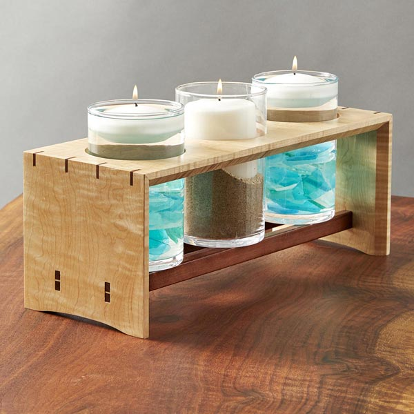Candle Power Decorative Holder Woodworking Plan