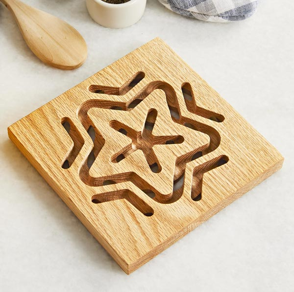 Basic CNC Trivet Woodworking Plan