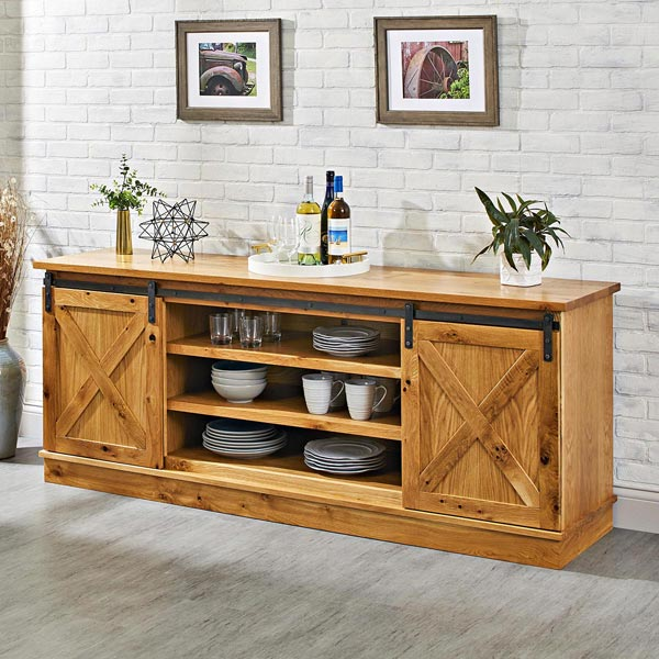 Barn-door Buffet Woodworking Plan