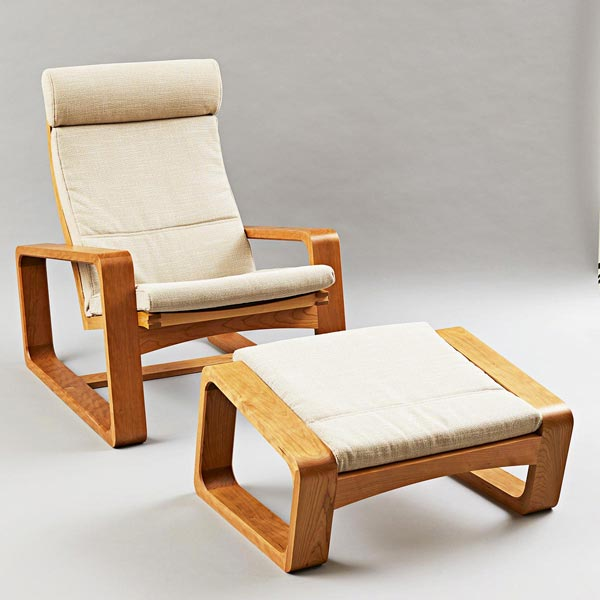 Modern Armchair & Footstool Woodworking Plan