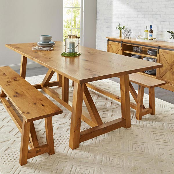 Farmhouse Table Woodworking Plan
