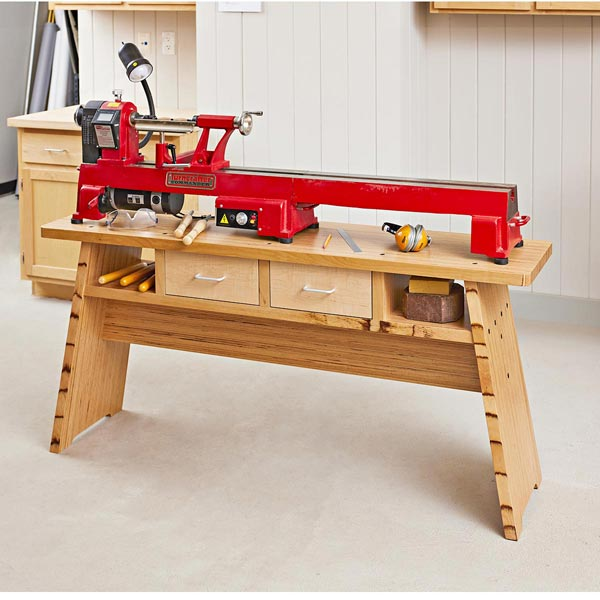 Rock-solid Lathe Stand Woodworking Plan