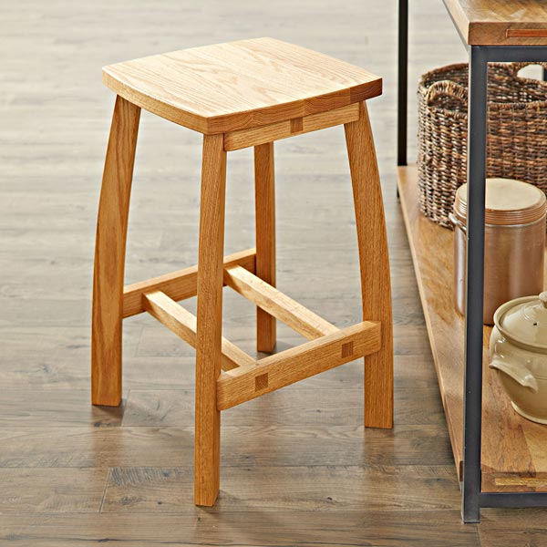Stylish Stool Woodworking Plan