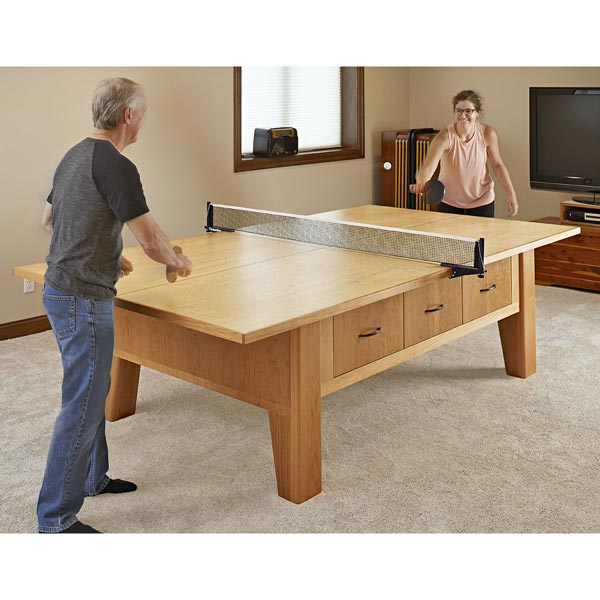 Table-Tennis Table Woodworking Plan