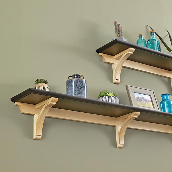 Curving-Corbel Wall Shelves Woodworking Plan