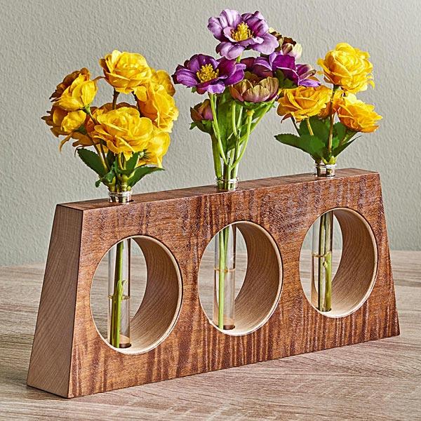 Tapered Triplet Bud Vase Woodworking Plan