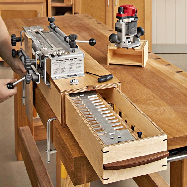 3-in-1 Dovetail Workstation Woodworking Plan