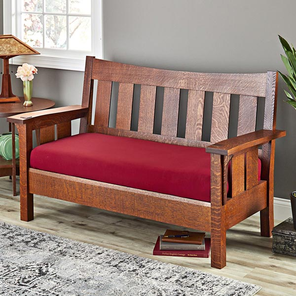 Splendid Settee Woodworking Plan