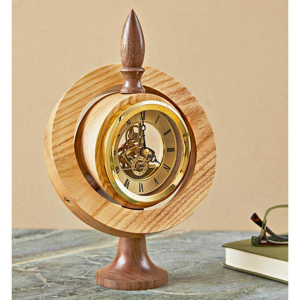 Gimbal Clock Woodworking Plan