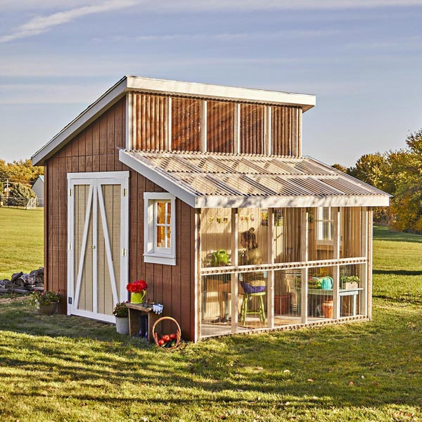 Potting Shed Woodworking Plan