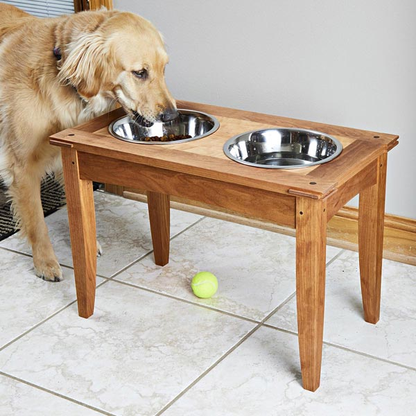 Raised Dog Dishes Woodworking Plan
