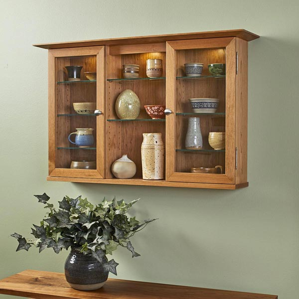 Hanging Display Cabinet Woodworking Plan
