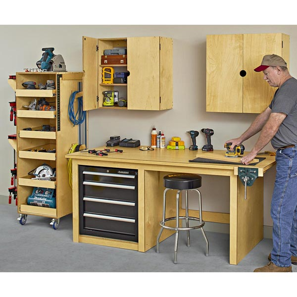 Workbench and Cabinet Combo Woodworking Plan