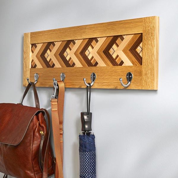Parquet Coatrack Woodworking Plan