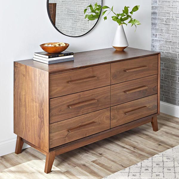 Midcentury Dresser Woodworking Plan