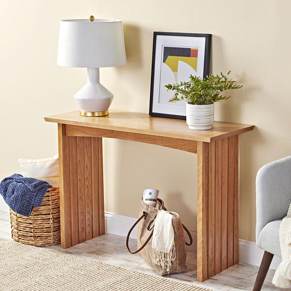 Pleated Table Woodworking Plan