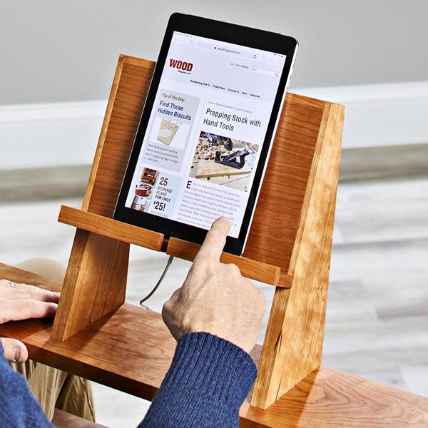Tablet Holder Woodworking Plan