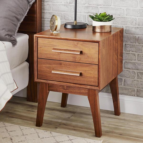 Nuclear-age Nightstand Woodworking Plan