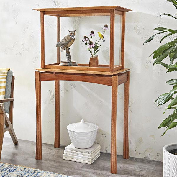 Display Table and Case Woodworking Plan