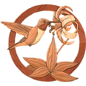 Hummingbird Intarsia Pattern Woodworking Plan From Wood