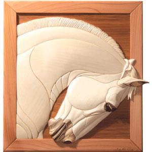 Lipizzan Horse Intarsia Pattern