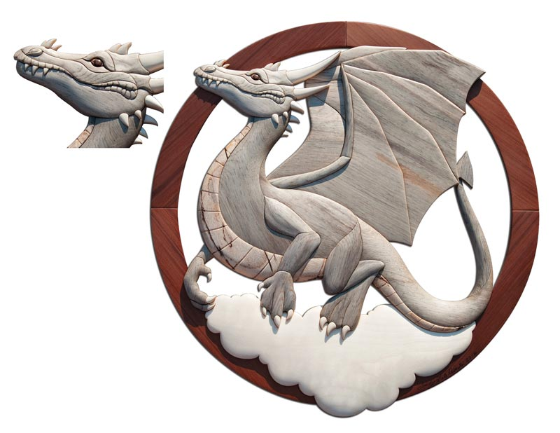 Dragon intarsia pattern from judy gale roberts