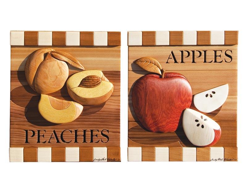 Peaches & Apples Intarsia Pattern