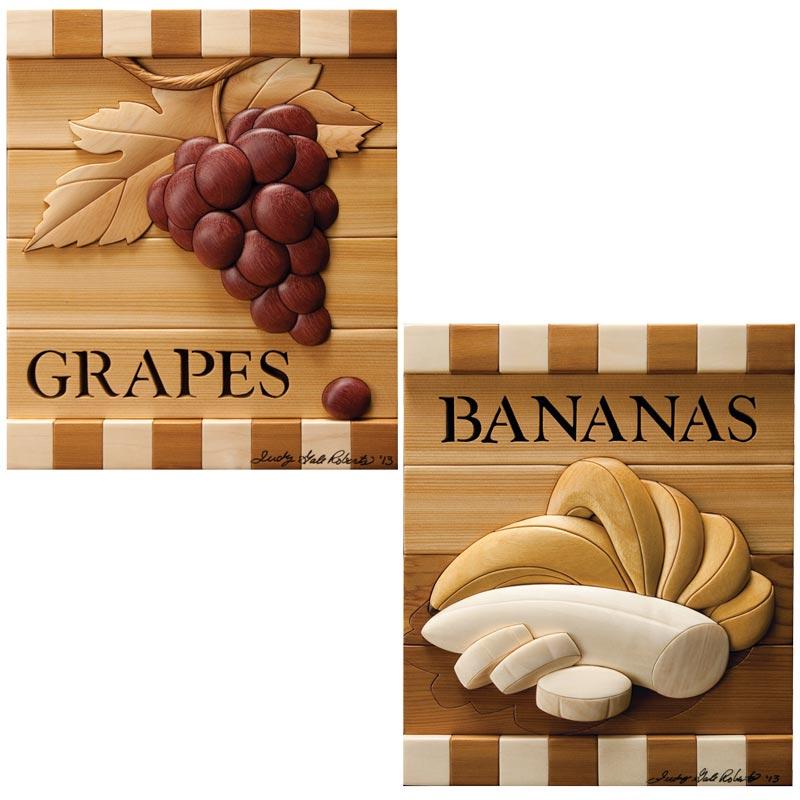 Grapes & Bananas Intarsia Pattern