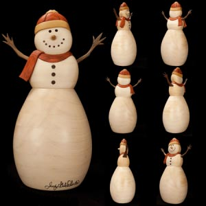 Snow Man Intarsia Pattern