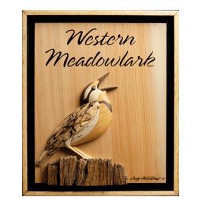 Western Meadowlark Intarsia Pattern