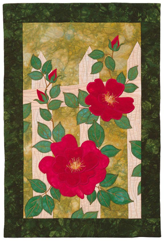 Wild Roses Pattern Table Toppers Spring Quilts  American Patchwork & Quilting