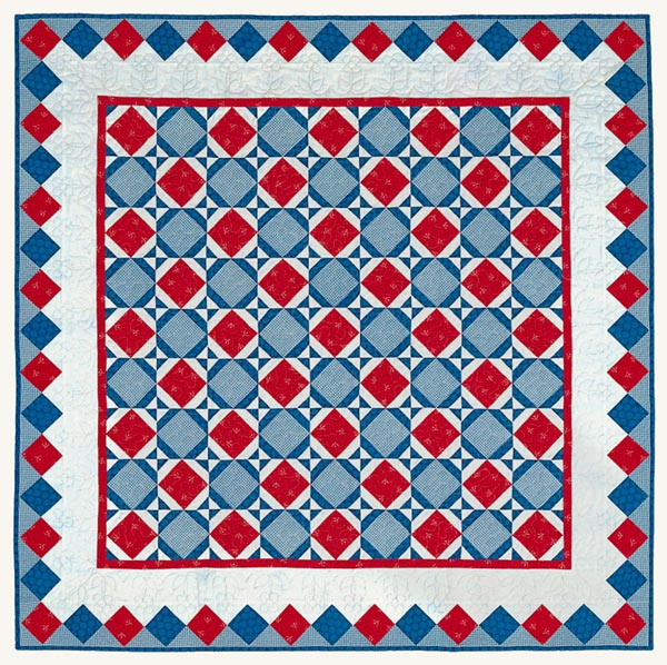 Town Square Picnic Pattern Throws Fourth of July Quilts  American Patchwork & Quilting