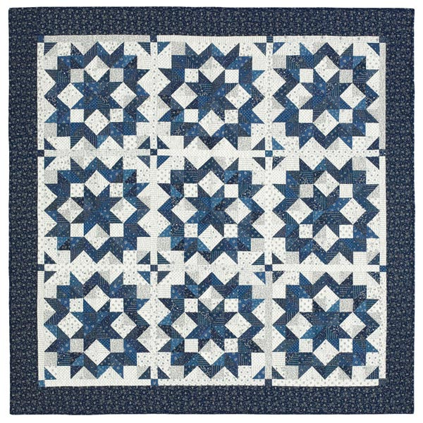 Round the Stars Pattern Throws Winter Quilts  American Patchwork & Quilting