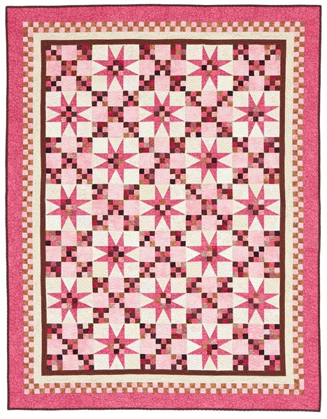 Bubble Gum Stars Printed Pattern