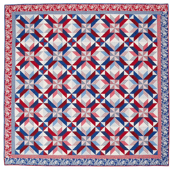 Red, White & Stars Printed Pattern