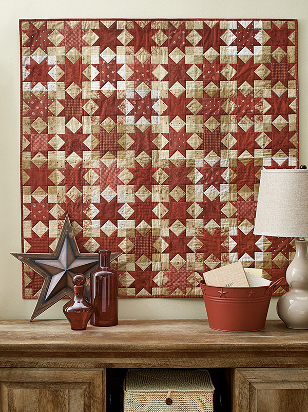 Regimental Stars Pattern Wall Quilts Fourth of July Quilts Christmas Quilts